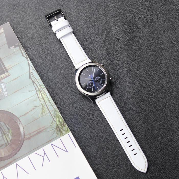 Frontier Cuir En Classique Tzz70211661wh Pour 1904 Luxe S3 Bracelet Samsung Gear Bande Montre Wh De 3jL54cARq