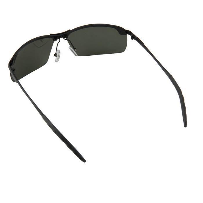 YKS fashion vert foncé noir cerclé verres polarisés des lunettes de soleil b1cbf6a6b873
