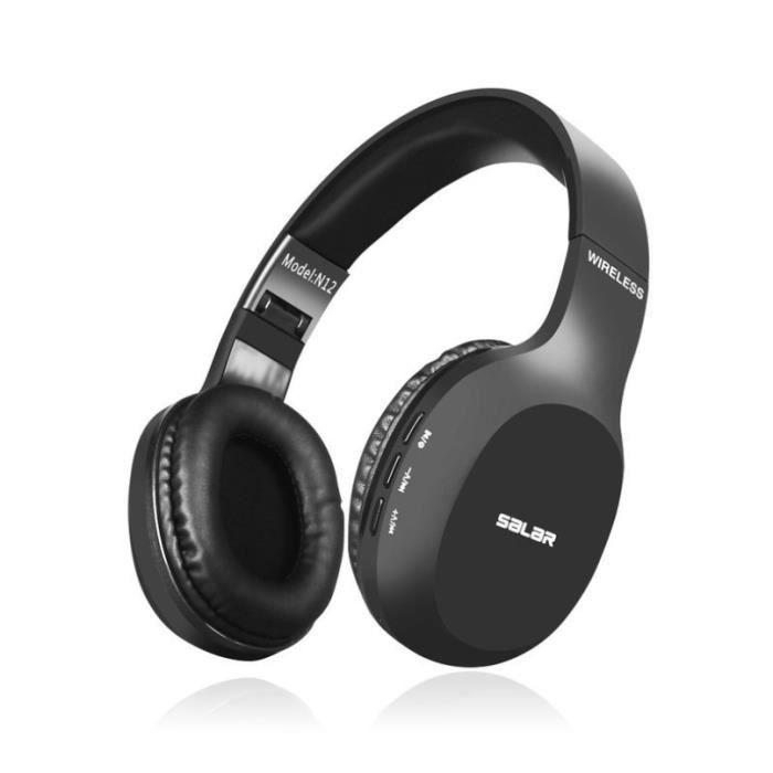 Athlete-casque Bluetooth Sport À Réduction Du Bruit Over-ear Stéréo Sans Fil Avec Micro Basses Puissantes,pour Pc Smartphone Tv