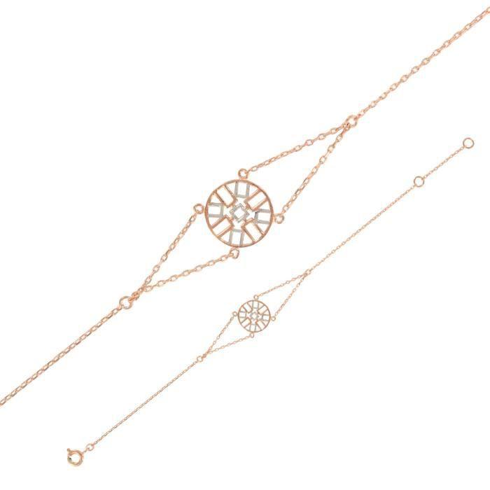Monella - Bracelet - Argent 925-1000 rhodié - Doré rose