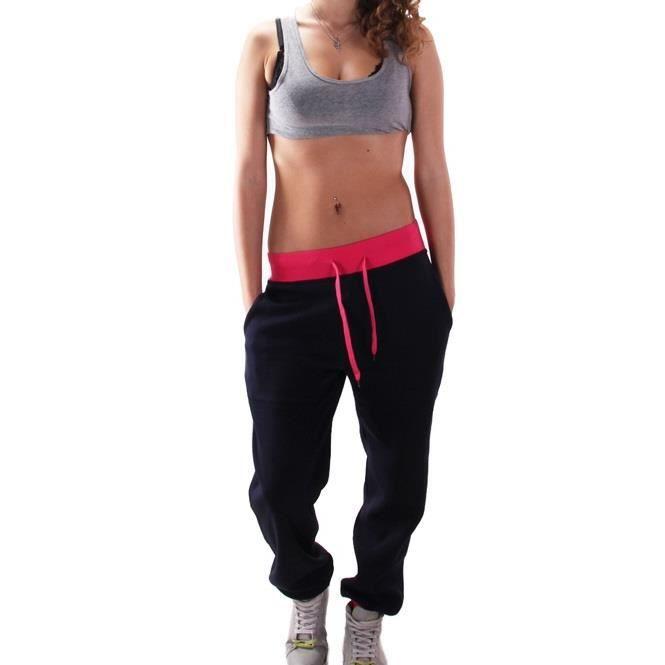 Jogging trendy bi color Noir Noir Noir - Achat   Vente survêtement ... 170066b6a5d