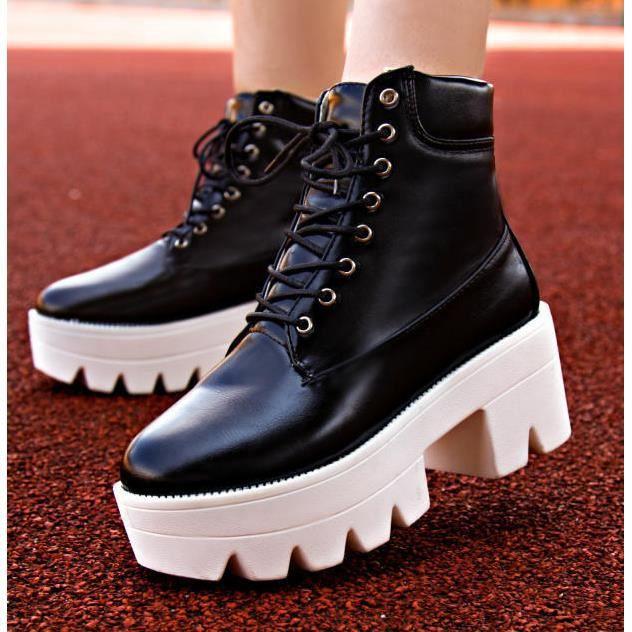 Bottes d'hiver givré courtes bottes chaussures bottes Martin.