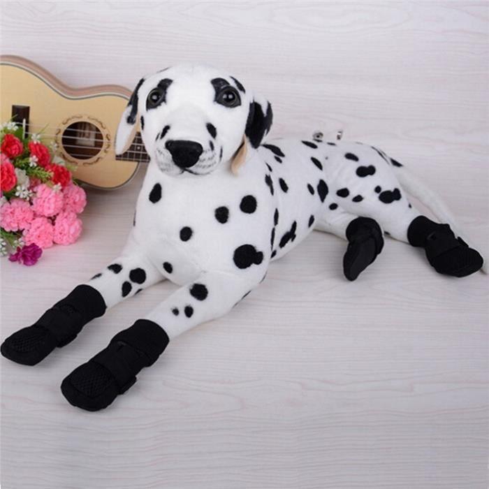 Bottes de chien robustes Paws respirant et résistant à l'eau - Noir qejdfevJtj