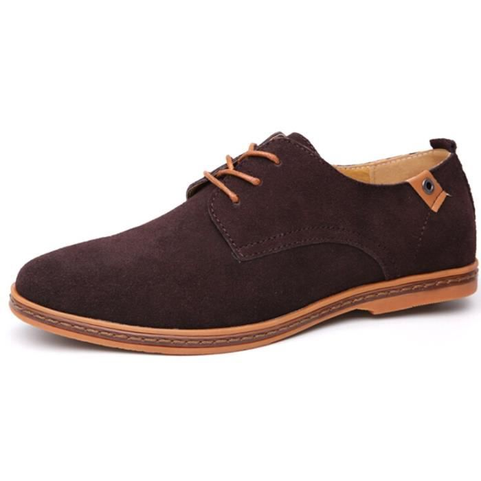 Tm Mens Pu Leather Lace Up Casual Driving Working Shoes FQAK5 Taille-47 1-2