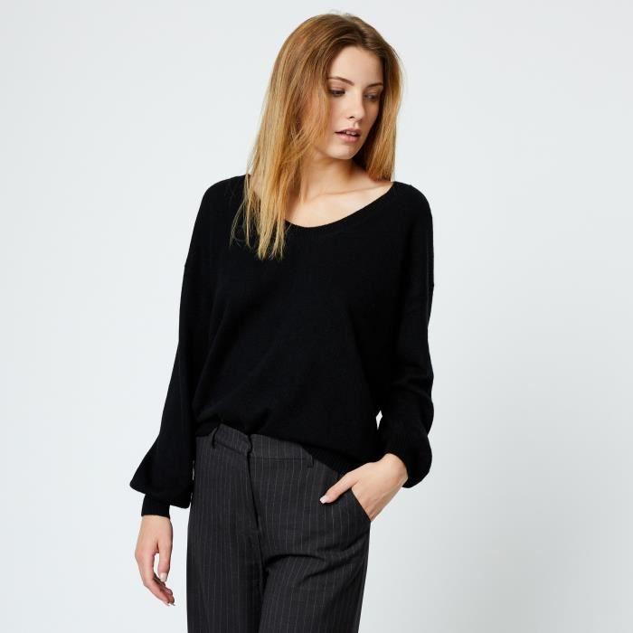 MONOPRIX Pull en cachemire ample - Femme - Noir Noir Noir - Achat ... 834db53a959d