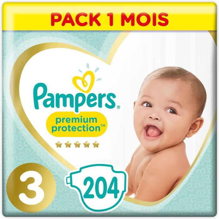 COUCHE PAMPERS Premium Protection Taille 3 - 5 à 9 kg - 2