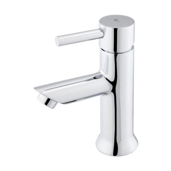 essebagno delisilicon chrome robinet pour vier avec douchette flexible noir en silicon. Black Bedroom Furniture Sets. Home Design Ideas