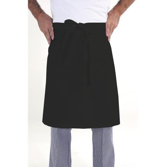 Tablier De Cuisine Professionnel Noir Achat Vente Pas Cher