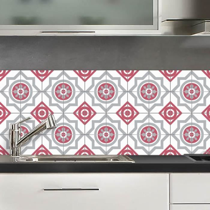 Credence Adhesive Moscou Rouge 40x100 Cm Achat Vente