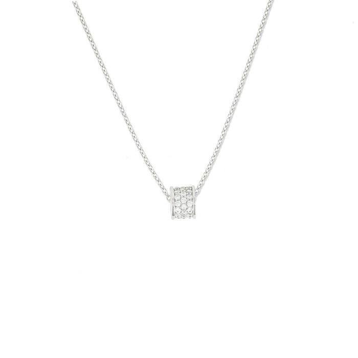 62363z - Coup De Cœur - Collier Femme - Argent 925-1000 - Oxyde De Zirconium - 42 Cm ZW3ZL