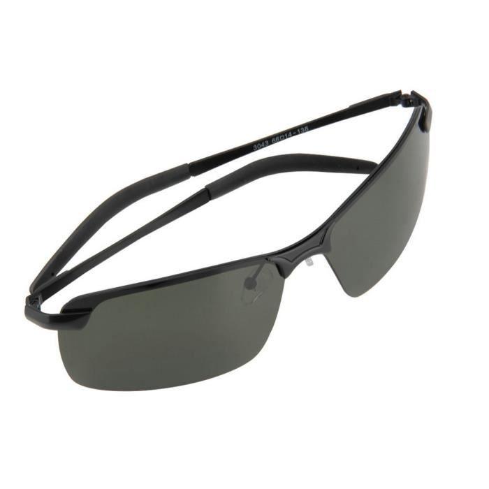 YKS fashion vert foncé noir cerclé verres polarisés des lunettes de soleil