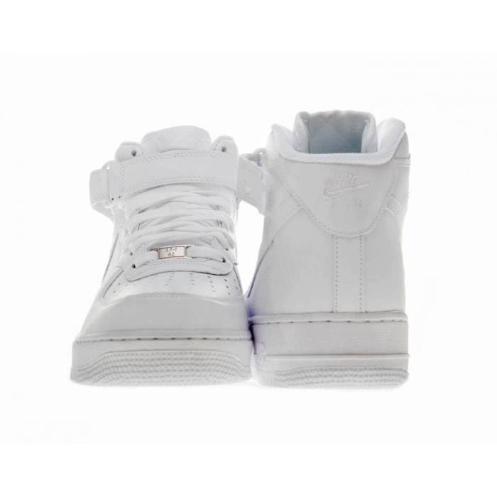 Baskets Nike Air Force 1 MID 07 Blanc 315123-111.