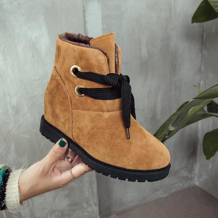 Martin Bottines Chaussures Velvet Rchauffez Neige Bottes 2386 Women De Suede Coton qx8wPOtxg