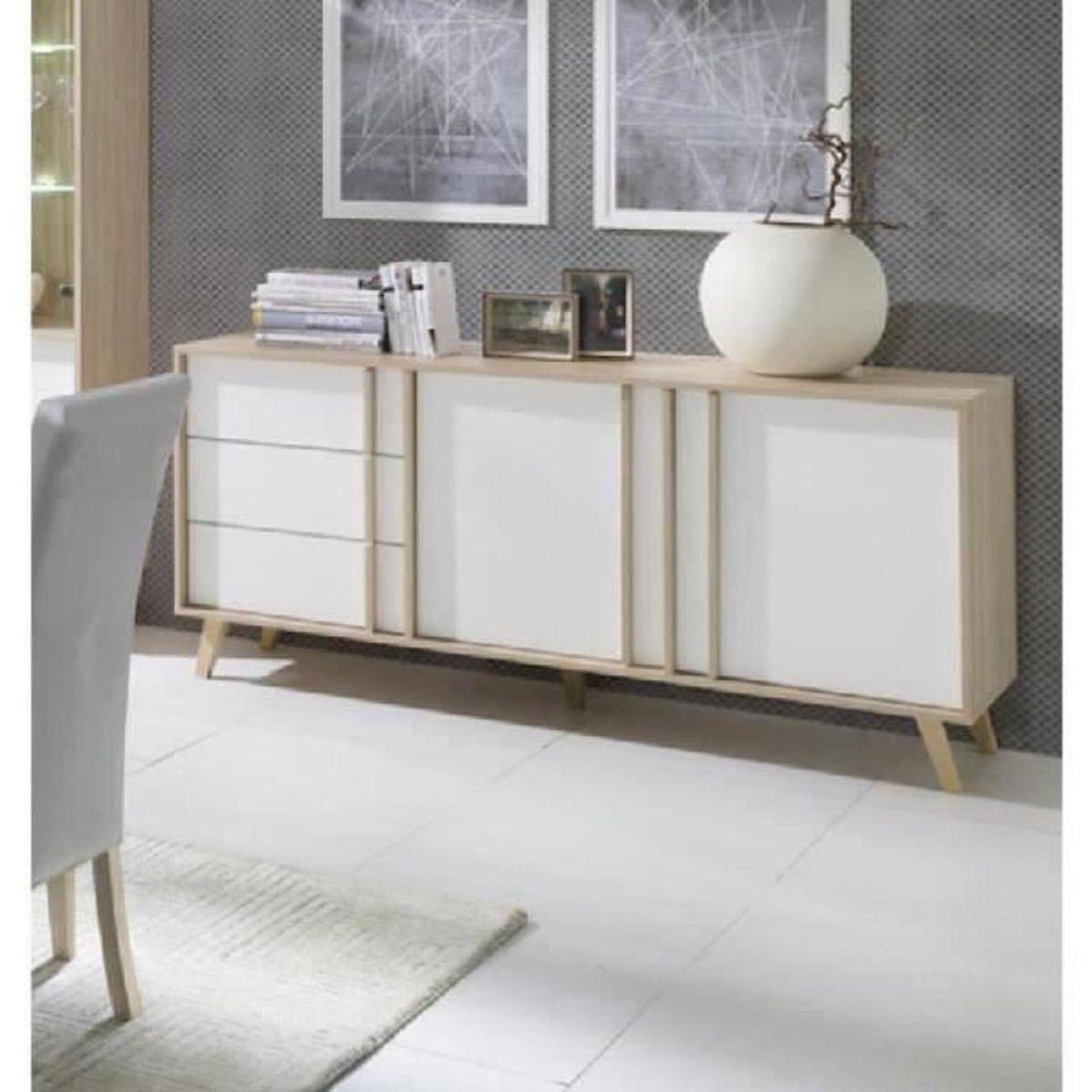 price factory - buffet, enfilade, bahut moyen modèle malmo. meuble