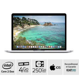 ORDINATEUR PORTABLE Macbook 13 pouces core 2 duo 4 go ram 250 go disqu
