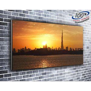 TABLEAU - TOILE Burj Khalifa Dubai City toile impression photo pan