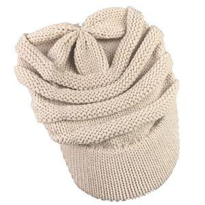 BONNET - CAGOULE Les femmes Slouchy Oversize Knitting Bonnet Cap ch ... eb16932bae6