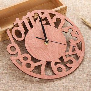 HORLOGE - PENDULE Horloge silencieuse en bois de numéro d'horloge de