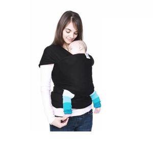 626c3ab100a2 ÉCHARPE DE PORTAGE Echarpe porte-bébé avec élastique Echarpe Noir ...