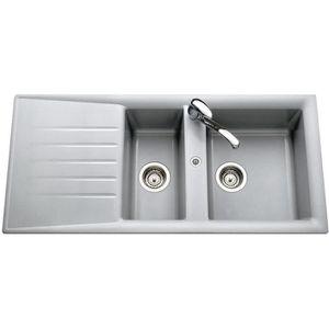 Evier 2 bacs gris achat vente evier 2 bacs gris pas cher cdiscount - Evier 2 bacs resine gris ...
