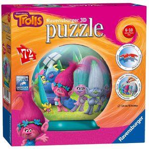 PUZZLE Ravensburger - 12197 - Puzzle 3D Trolls 72 Pièces