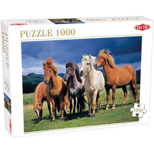 PUZZLE Tactic Camargue Horses 1000 pcs, Jigsaw puzzle, Fa