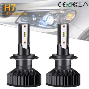 PHARES - OPTIQUES 2x H7 ZES LED phare 12000LM Canbus xenon ampoule f