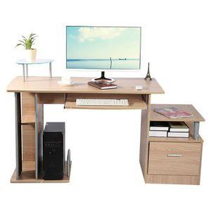 MEUBLE INFORMATIQUE Bureau d'Ordinateur table d'ordinateur avec stocka