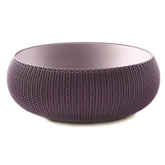 Pot de fleur - En plastique - Contenance : 22,8L - Dimensions : 54x54x20,2cm - Coloris : violet.JARDINIERE - POT DE FLEUR - CACHE-POT