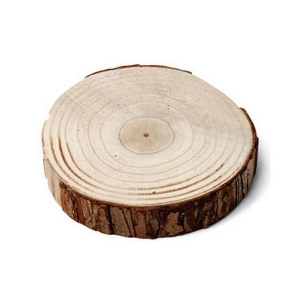 Deco De Table Rondin De Bois D23cm 26cm Achat Vente Decors De