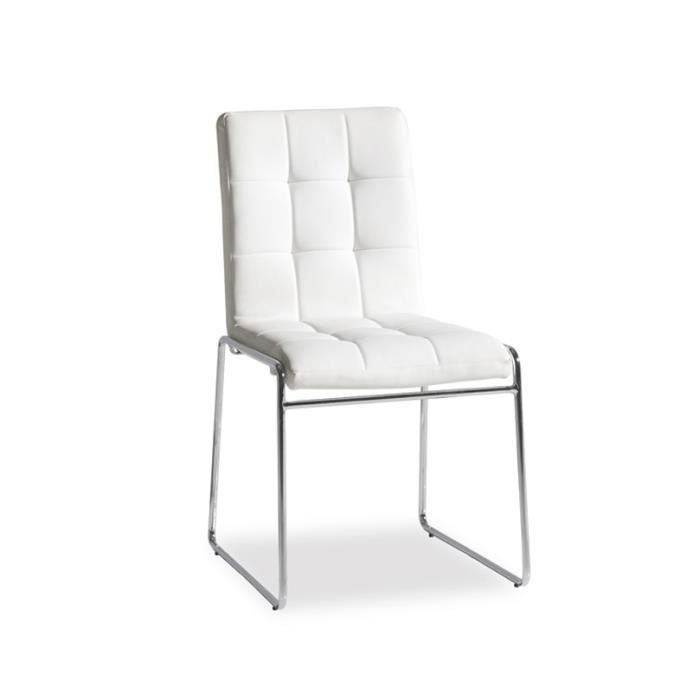 Chaise Bureau Blanc Dimensions H86 X L48 X Achat Vente