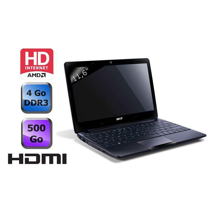 NETBOOK Acer Aspire One 722 C62kk Noir