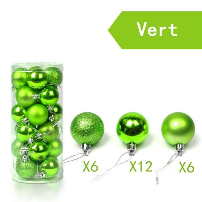 boules de noel verte pour sapin achat vente boules de. Black Bedroom Furniture Sets. Home Design Ideas