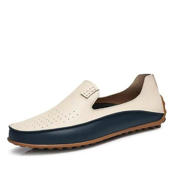 Chaussures Hommes De Marque De Luxe Mode Grande Taille Chaussures LKG-XZ72Blanc38 LG7AxRhSf