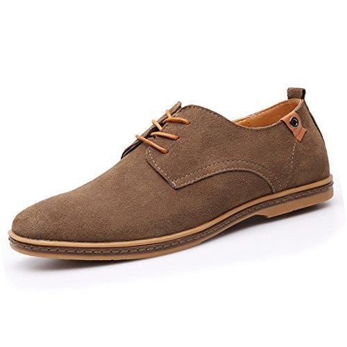 Leather Classic Oxfords Casual Shoes Lace-up Flats Loafers FA0MM Taille-37 1-2