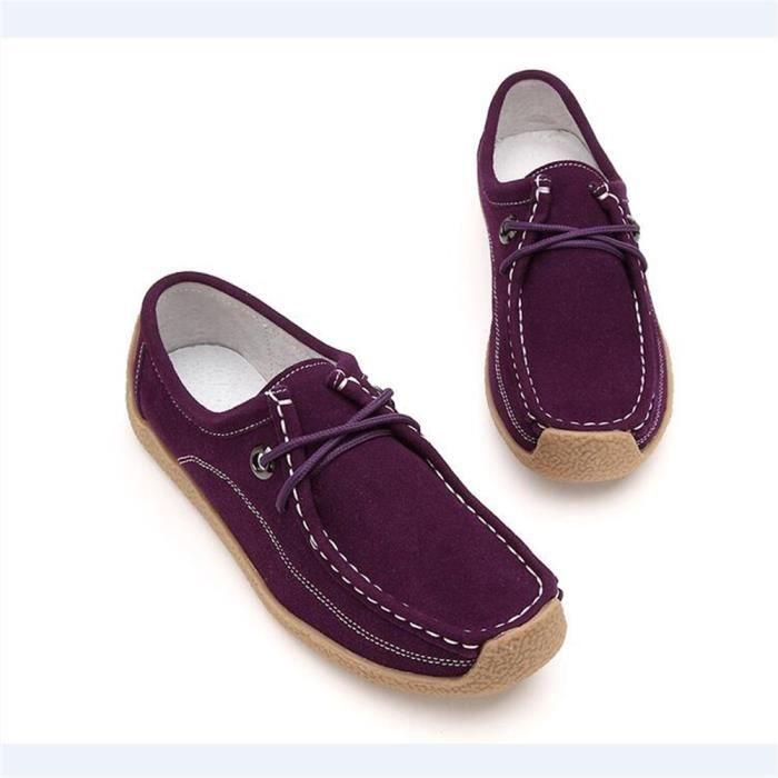 Moccasins Femme Haut Qualité Les Chaussures De Loisirs Pour Femmes LéGer Version Grande Taille 35-40,violet,36