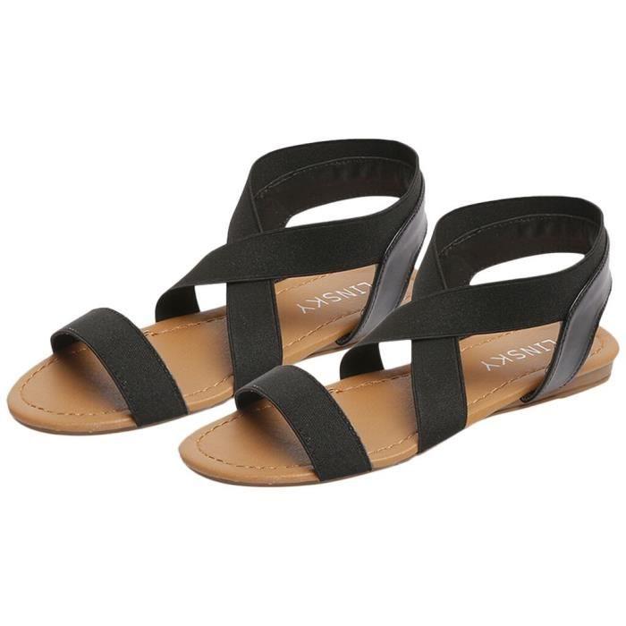 Plage Strap Peep toe Croix Anti Faible Sandales Bleu Débardage Femmes Chaussures À Talon Les CqRxw0vPc