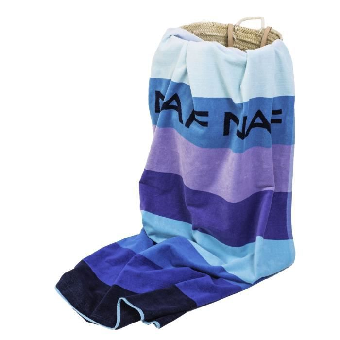 NAF NAF Drap de plage 100% coton Balboa - 90x180 cm - Bleu - Achat ...