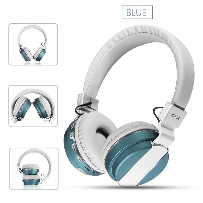 Bluetooth Casque écouteur Nfc Hifi Pliable Sans Fil Headset Audio
