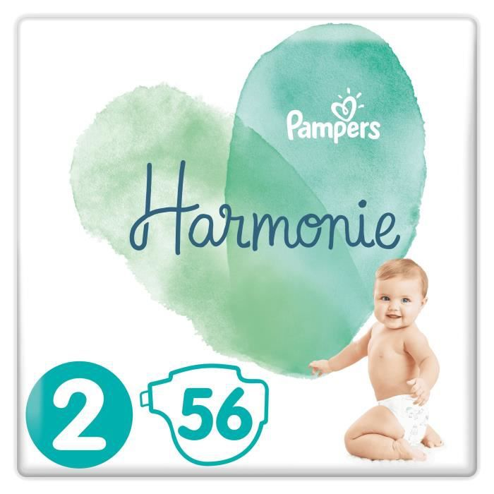 Pampers Harmonie Taille 2 4 8 Kg 56 Couches Achat Vente Couche
