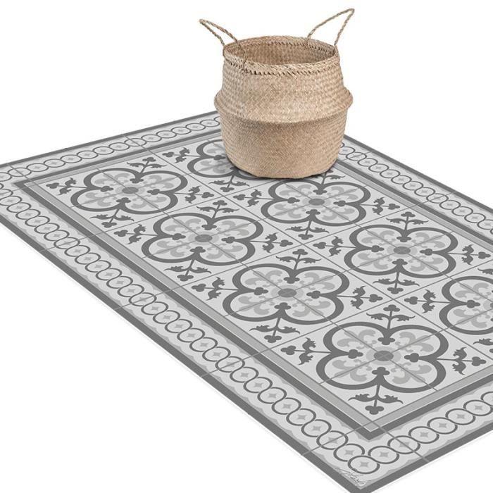 Tapis carreaux de ciment achat vente tapis carreaux de for Tapis vinyle cuisine