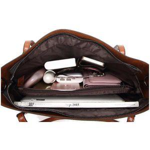 362f4472bafc ... SAC À MAIN BRO® Sac féminin Vintage sac à main en cuir sac à ...