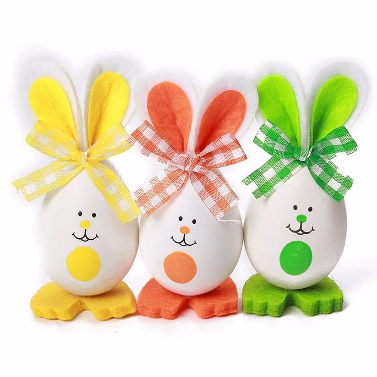 Tempsa 3pcs Oeufs De Pâques Lapin Pour Décoration Fête Enfant Jouet