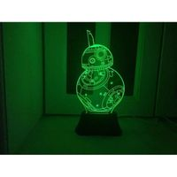 LAMPE A POSER Lampe 3D lumière de nuit LED Furnish tactile Commu