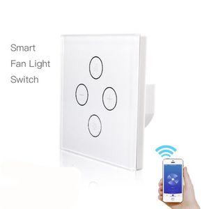 VENTILATEUR DE PLAFOND Smart WiFi Ventilateur Light Switch, In-Wall lampe