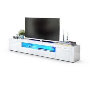 Meuble Tv Blanc Laque Haut Achat Vente Pas Cher