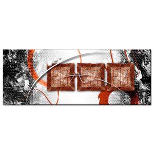 TABLEAU - TOILE Tableau Déco Moderne Déco Abstraite Trois Carrés -