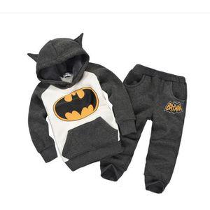 Ensemble de vêtements mis unisexe enfants coton batman hoodies de sty...
