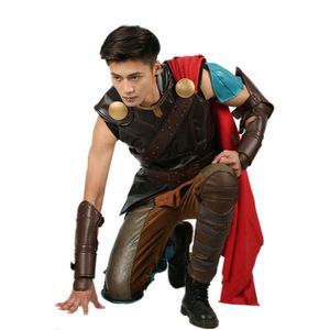 DÉGUISEMENT - PANOPLIE Thor Costume Cosplay PU leather Sans manches Homme