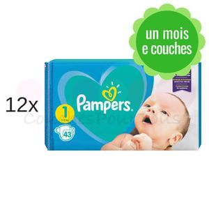 COUCHE 516 couches PAMPERS NEW BABY taille 1